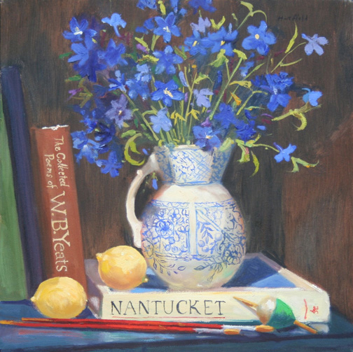 Nantucket Stillife oil painting by Cathryn Hatfield