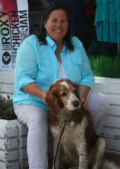 Cathy Hatfield with Winslow on Balboa Island